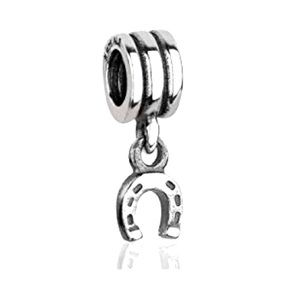 NEW PANDORA Sterling Silver Lucky Horseshoe Charm